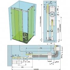 SF 20 - Sliding shower system
