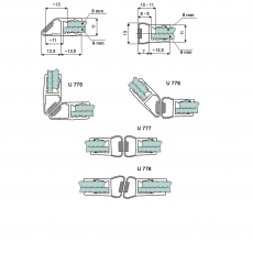 Magnetic seals: U 775, U 776, U 777, U 778